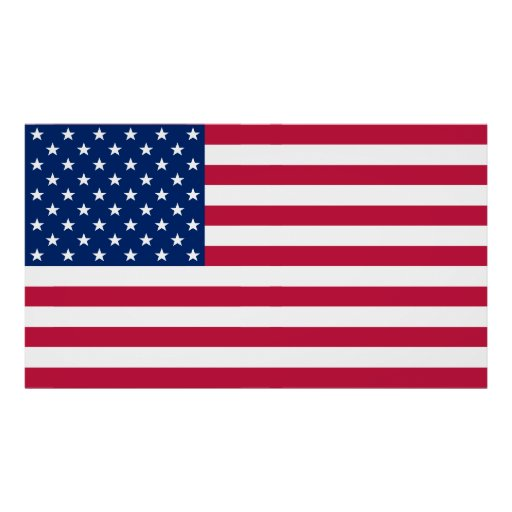 Usa American Flag Home Office Wall Decor Xl Poster Zazzle