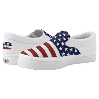USA American Flag July 4th Slip-On Sneaker