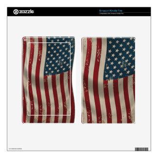 USA American Flag Kindle Fire Skin