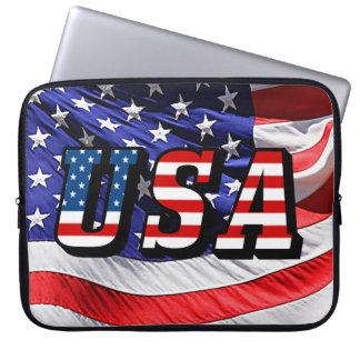 USA - American Flag Laptop Sleeve