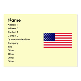 USA - American Flag Large Business Cards (Pack Of 100)