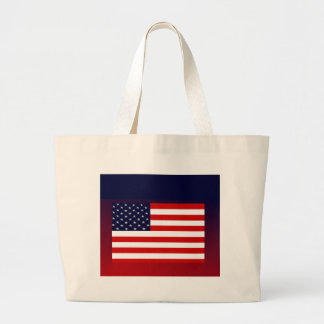USA American Flag-Military Veterans and FOR ALL Large Tote Bag