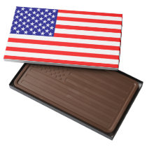 USA American Flag Milk Chocolate Bar