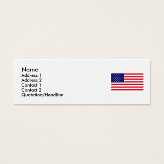 USA - American Flag Mini Business Card