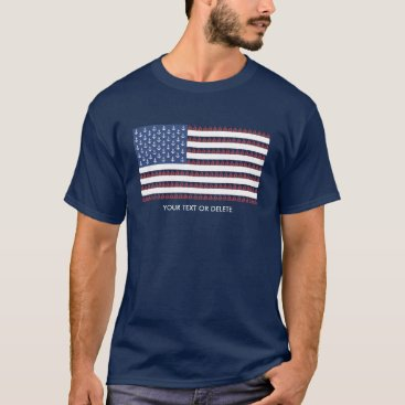 USA Themed USA American Flag Nautical Anchor Sailboat Custom T-Shirt
