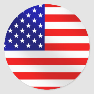 USA American flag of the United States of America Round Sticker