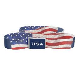 USA American Flag Patriotic Design Belt