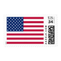 USA American Flag Patriotic Postcard Postage Stamp
