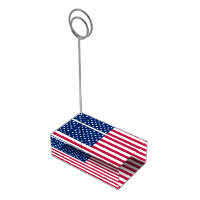 USA American Flag Patriotic Table Card Holder US