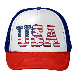 USA American Flag Patriotic Trucker Hat