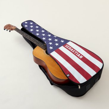 USA Themed USA American Flag Personalized Guitar Case