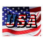 USA - American Flag Post Card