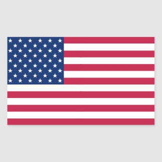USA American Flag Red Blue Stars Stripes Sticker