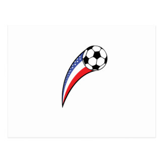 USA American Flag Soccer Player Team Gifts Postcard