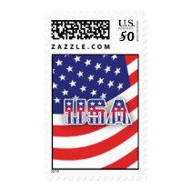 USA & American Flag Stamp
