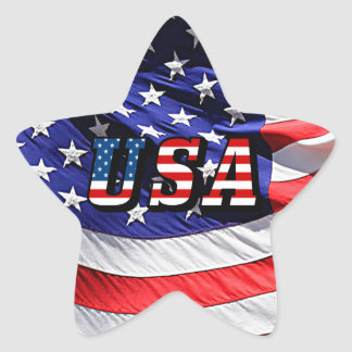 USA - American Flag Star Sticker