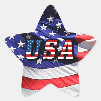USA - American Flag Star Sticker