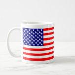 USA American Flag Stars and Stripes Classic White Coffee Mug