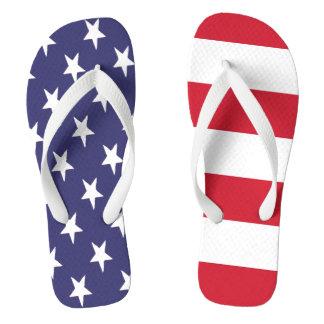 USA American Flag Stars And Stripes Flip Flops