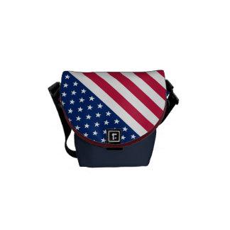 USA American Flag Stars and Stripes Messenger Bag