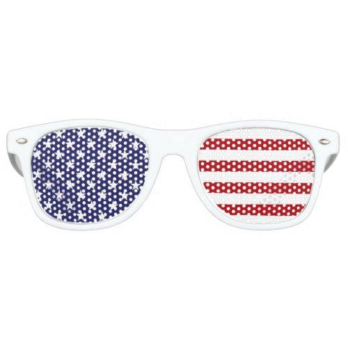 USA American Flag _ Stars and Stripes _ Old Glory Retro Sunglasses