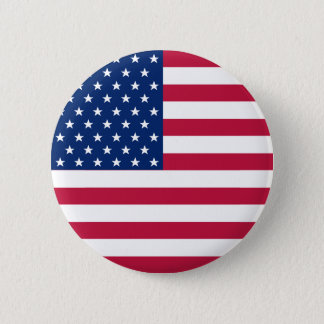 USA American Flag Stars Patriotic Round Pin Button