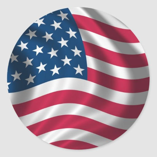 USA American flag stickers
