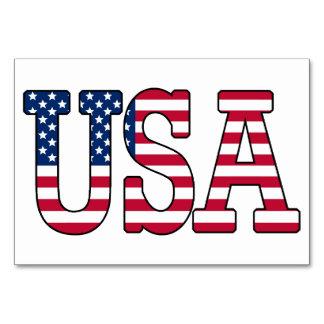 USA American Flag Table Cards