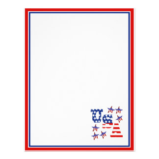 USA American Flag Text w/Red White & Blue Border Flyer