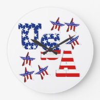 USA American Flag Text with Stars & Stripes