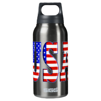 USA AMERICAN FLAG THERMOS WATER BOTTLE