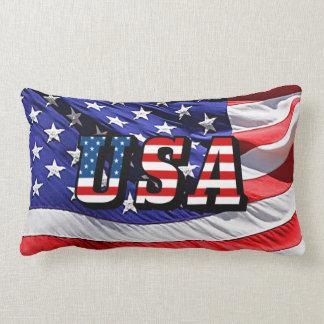 USA - American Flag Throw Pillow