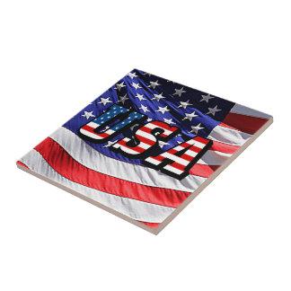 USA - American Flag Tile