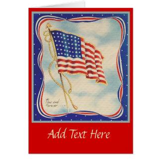 USA AMERICAN FLAG VINTAGE CARD