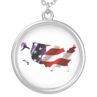 USA - American Flag Within America Necklace