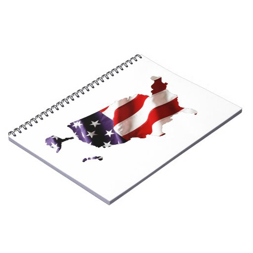 USA - American Flag Within America Note Books