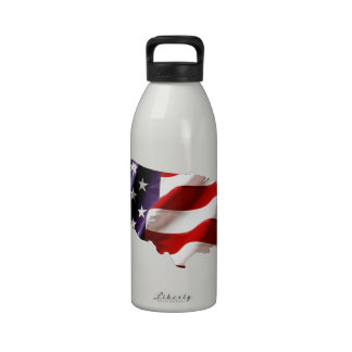 USA - American Flag Within America Water Bottles