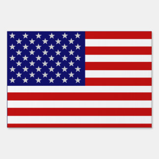 USA American Flag Yard Sign