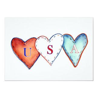 USA American Hearts Invite