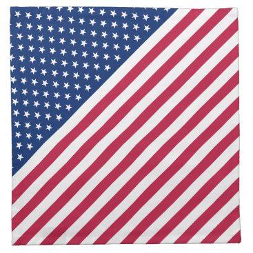 USA Themed USA American Patriotic Cocktail Party Cloth Napkin