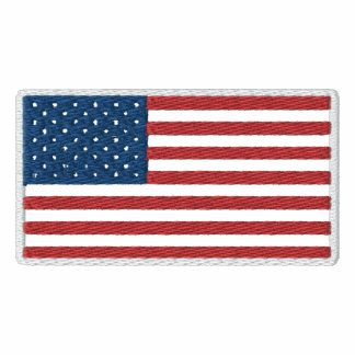 USA American Patriotic Flag Embroidered Polo Shirt