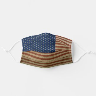 USA American Patriotic Stars and Stripes Flag Cloth Face Mask
