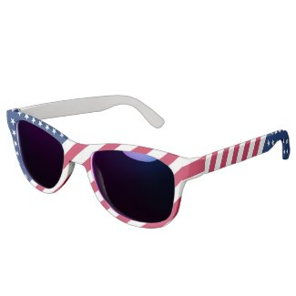 USA American Patriotic Stars Stripes Flag Wayfarer Eyewear
