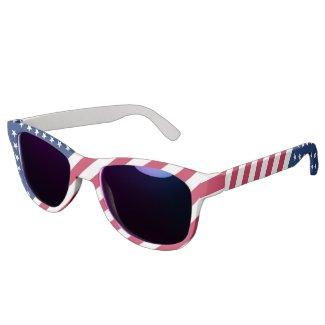 USA American Patriotic Stars Stripes Flag Wayfarer Eyewear