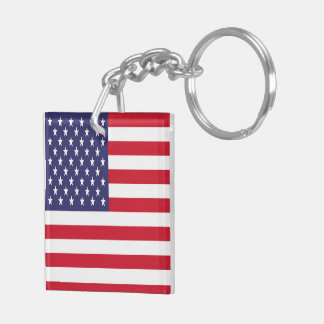 USA American Patriotic United States Keychain