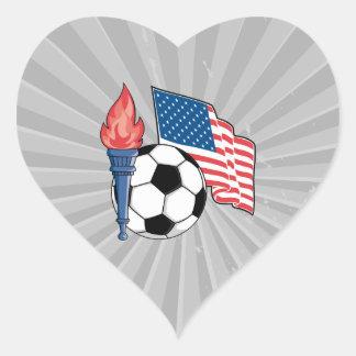 usa american soccer pride graphic heart sticker