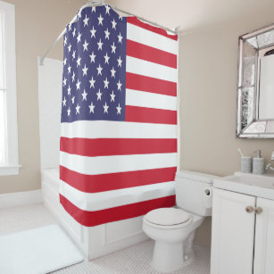 USA American Stars And Stripes Patriotic Flag Shower Curtain