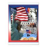 "USA American Symbols 5"" X 7"" Invitation Card"