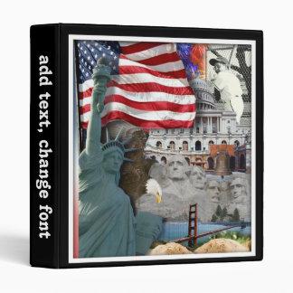USA  American Symbols Binder