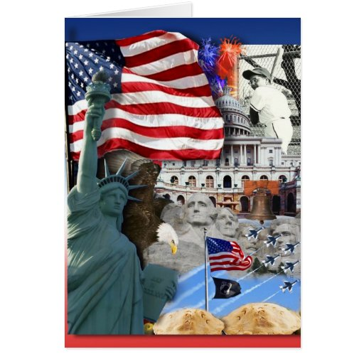 USA American Symbols Greeting Card